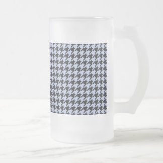 Alice Blue Houndstooth in English Country Garden Frosted Glass Beer Mug