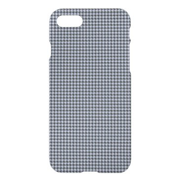 Beach Themed Alice Blue Houndstooth in English Country Garden iPhone 7 Case