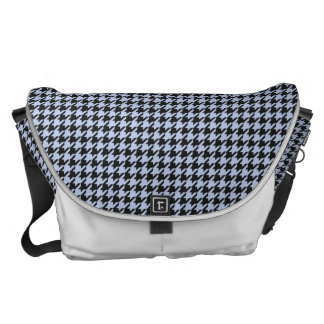 Alice Blue Houndstooth in English Country Garden Messenger Bag