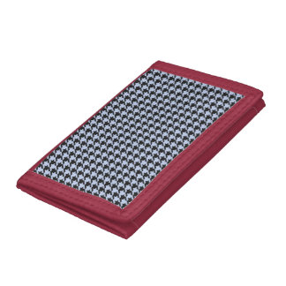 Alice Blue Houndstooth in English Country Garden Tri-fold Wallet