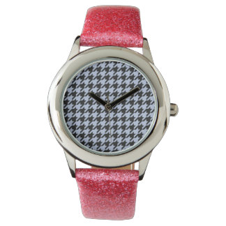 Alice Blue Houndstooth in English Country Garden Wristwatch