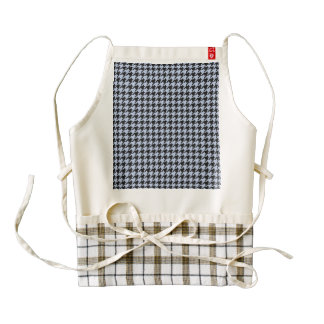 Alice Blue Houndstooth in English Country Garden Zazzle HEART Apron
