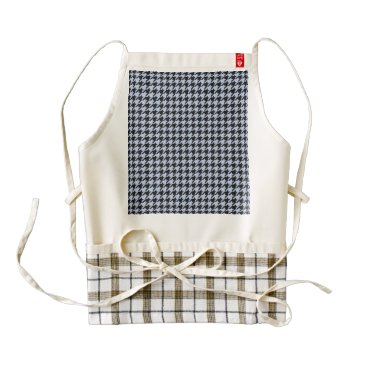 Beach Themed Alice Blue Houndstooth in English Country Garden Zazzle HEART Apron