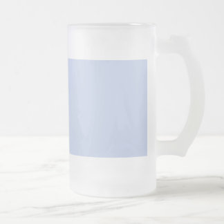 Alice Blue in an English Country Garden Frosted Glass Beer Mug
