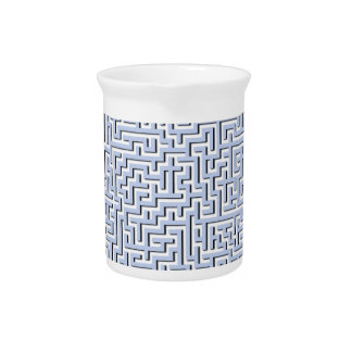 Alice Blue Maze in an English Country Garden Beverage Pitcher