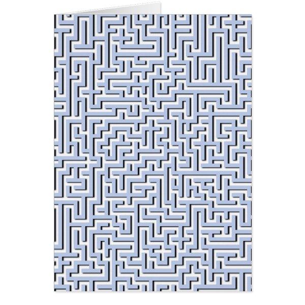 Alice Blue Maze in an English Country Garden Card