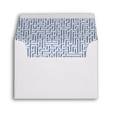 Beach Themed Alice Blue Maze in an English Country Garden Envelope