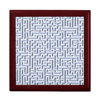Alice Blue Maze in an English Country Garden Trinket Box