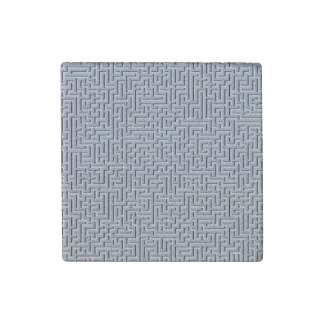 Alice Blue Maze in an English Country Garden Stone Magnet