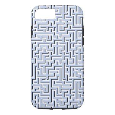 Beach Themed Alice Blue Maze in an English Country Garden iPhone 7 Case