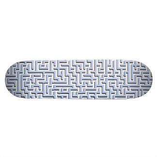 Alice Blue Maze in an English Country Garden Skateboard Deck