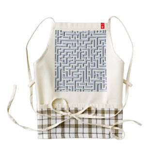 Alice Blue Maze in an English Country Garden Zazzle HEART Apron