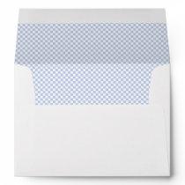 Alice Blue Micro Check in English Country Garden Envelope
