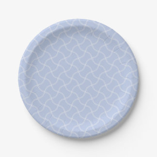 Alice Blue Mini Footpath in English Country Garden 7 Inch Paper Plate