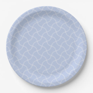 Alice Blue Mini Footpath in English Country Garden 9 Inch Paper Plate