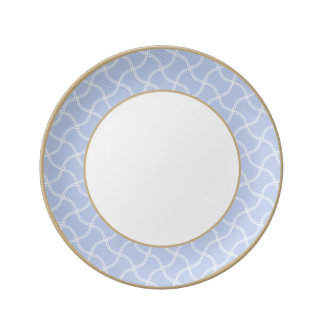 Alice Blue Mini Footpath in English Country Garden Dinner Plate