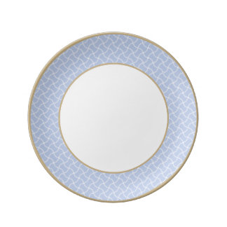 Alice Blue Mini Footpath in English Country Garden Plate