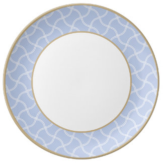 Alice Blue Mini Footpath in English Country Garden Porcelain Plate