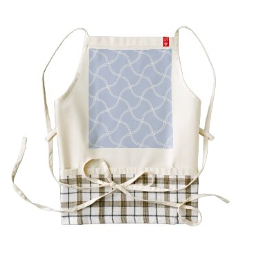 Beach Themed Alice Blue Mini Footpath in English Country Garden Zazzle HEART Apron
