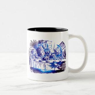 Alice Blue Nova Two-Tone Coffee Mug