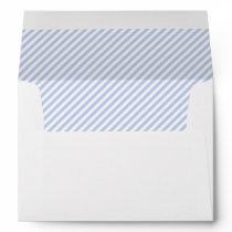 Alice Blue Pinstripe in English Country Garden Envelope