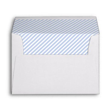Beach Themed Alice Blue Pinstripe in English Country Garden Envelope