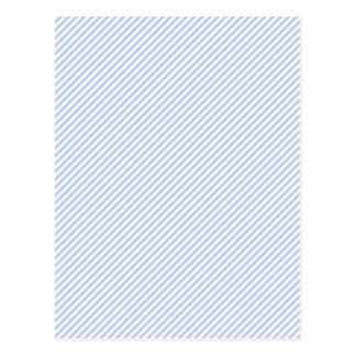 Alice Blue Pinstripe in English Country Garden Postcard