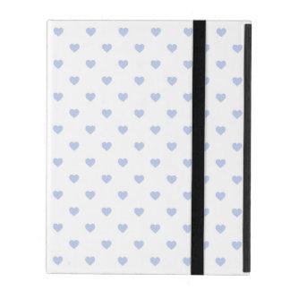 Alice Blue Polka Hearts in English Country Garden iPad Folio Case