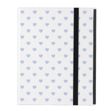 Beach Themed Alice Blue Polka Hearts in English Country Garden iPad Folio Case