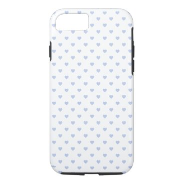 Beach Themed Alice Blue Polka Hearts in English Country Garden iPhone 7 Case