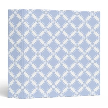 Beach Themed Alice Blue Quatrefoil in an English Country Garden Binder