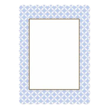 Beach Themed Alice Blue Quatrefoil in an English Country Garden Card