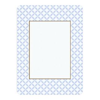 Alice Blue Quatrefoil in an English Country Garden Card