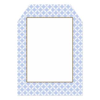 Alice Blue Quatrefoil in an English Country Garden 5x7 Paper Invitation Card