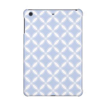 Beach Themed Alice Blue Quatrefoil in an English Country Garden iPad Mini Retina Case