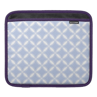 Alice Blue Quatrefoil in an English Country Garden iPad Sleeve