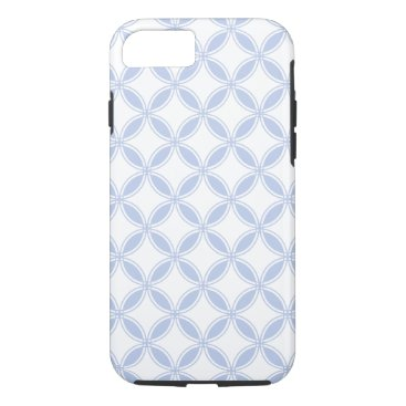 Beach Themed Alice Blue Quatrefoil in an English Country Garden iPhone 7 Case