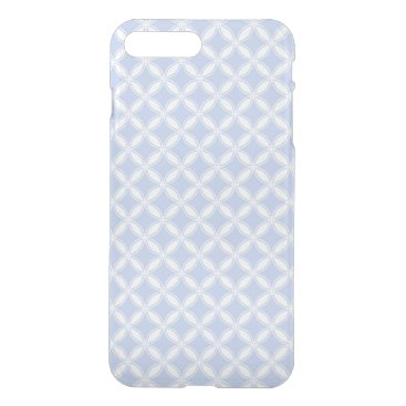 Beach Themed Alice Blue Quatrefoil in an English Country Garden iPhone 7 Plus Case
