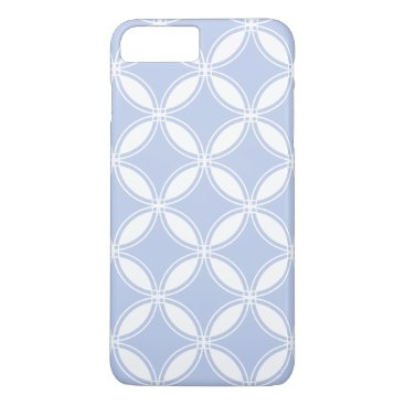 Beach Themed Alice Blue Quatrefoil in an English Country Garden iPhone 8 Plus/7 Plus Case