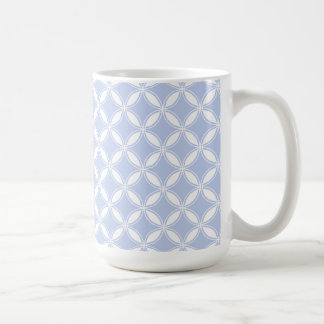 Alice Blue Quatrefoil in an English Country Garden Classic White Coffee Mug