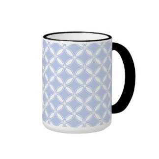 Alice Blue Quatrefoil in an English Country Garden Ringer Coffee Mug