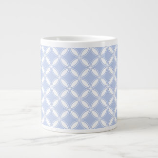 Alice Blue Quatrefoil in an English Country Garden 20 Oz Large Ceramic Coffee Mug