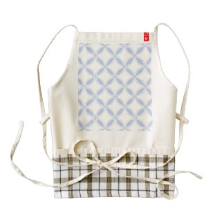 Alice Blue Quatrefoil in an English Country Garden Zazzle HEART Apron