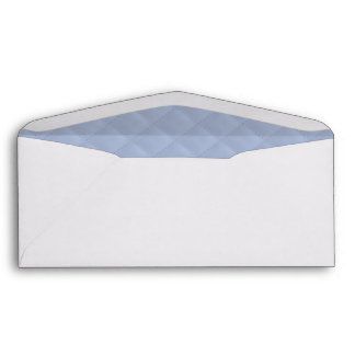 Alice Blue Square Quilted Stitched Pattern Envelope