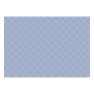 Alice Blue Square Quilted Stitched Pattern Large Business Cards (Pack Of 100)