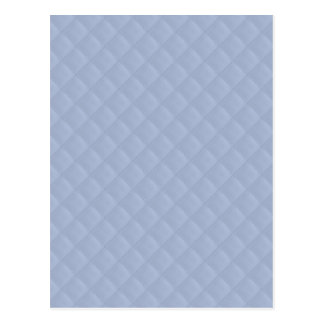 Alice Blue Square Quilted Stitched Pattern Postcard