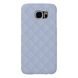 Alice Blue Square Quilted Stitched Pattern Samsung Galaxy S6 Cases