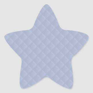 Alice Blue Square Quilted Stitched Pattern Star Sticker