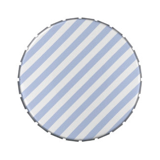 Alice Blue Tent Stripe in English Country Garden Jelly Belly Candy Tin