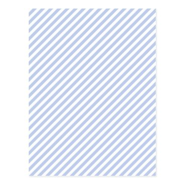 Beach Themed Alice Blue Tent Stripe in English Country Garden Postcard